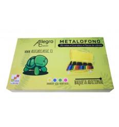 Metalófono Cromático 25 notas Allegro Amarillo