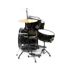 Bateria negra Pro Drums 5 pcs