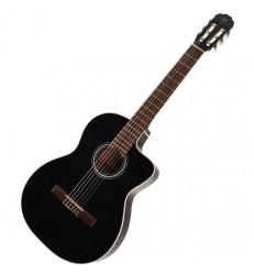 Guitarra electroacústica negra nylon Takamine