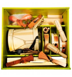 Cajón Set de 22 instrumentos musicales